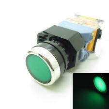 Round Green Push Button Switch Momentary 220v Led Light 22mm 1 No 1 Nc 380v 10a