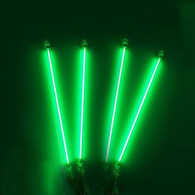 """4X 13"""" Under Car Underbody Neon CCFL Exterior Home Interior Light Green 12V"""