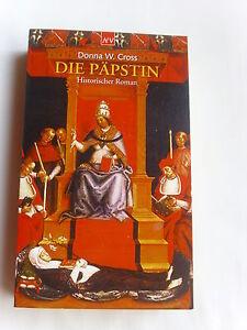 TOP-Die-Paepstin-Historischer-Roman-Donna-W-Cross-TB-Neuwertig