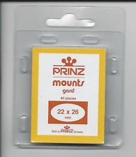 Package of 40 Prinz BLACK Mounts 22 x 26