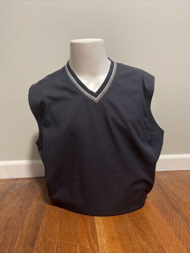 Nike Golf Black V Neck Windbreaker Pullover Vest Z