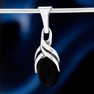 Onyx-Silber-925-Anhaenger-Sterlingsilber-Damen-Schmuck-A0540