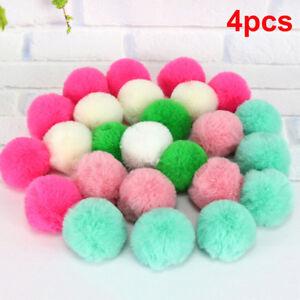 4X-5cm-Faux-Fox-Pom-Pom-Ball-Ball-Pom-Accessory-for-Keychain-Beanie-Xmas-DIY-xh