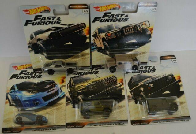 Hot Wheels 2019 Premium Fast & Furious Full Set of 5 Furious Off-Road