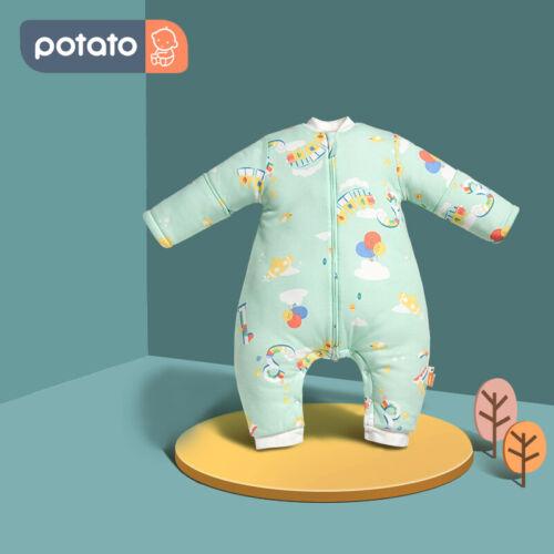 Babyschlafsack Set Schlafsack Baby mit Beinen und Ärmel 100/% Baumwolle Sommer