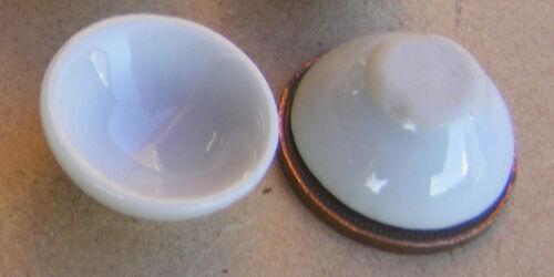 Escala 1:12 2 Tazones De Cerámica Blanca 1.8 cm tumdee Casa De Muñecas Accesorio de Cocina W77