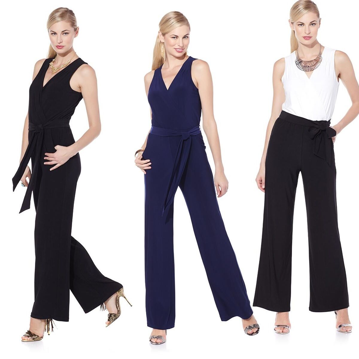 98 Nikki by Nikki Poulos  West  Jersey Jumpsuit 398224AJ (S,Navy)  59.95