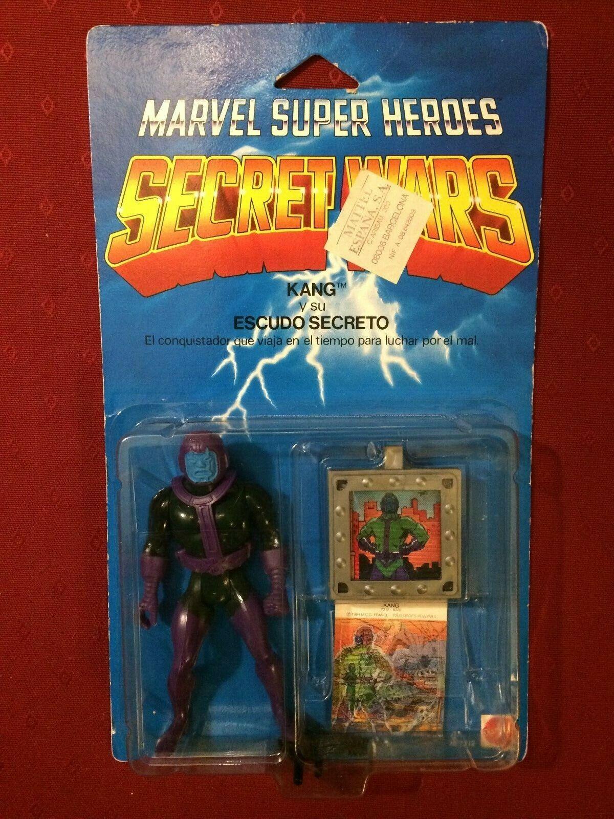 VINTAGE MARVEL SECRET guerras KANG cifra, 1985, Mattel, MOC, SPAGNOLO EDN