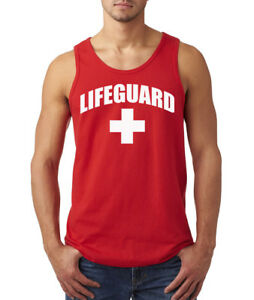 Image is loading LIFEGUARD-Tank-Top-Swim-Pool-Staff-Halloween-Costume-  sc 1 st  eBay & LIFEGUARD Tank Top Swim Pool Staff Halloween Costume Mens Ladies ...