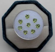 8 Peridot Heart Loose Gems 4mm each