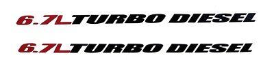 Dodge Ram Cummins 6.7L TURBO DIESEL Hood Stickers Decals Vinyl 4x4