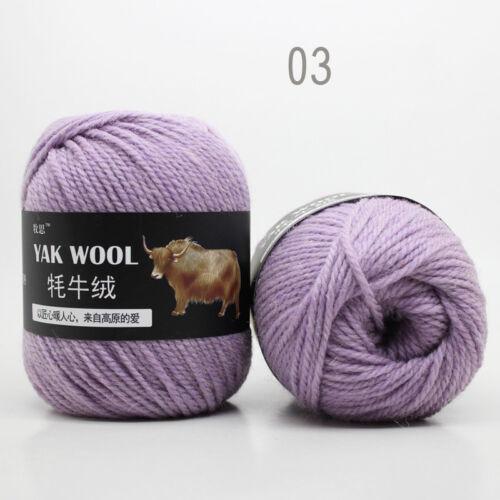 Knitting Crochet yak wool cashmere 100g Super baby strong cotton Chunky yarn new