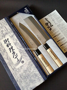 2-PCS-Japanese-034-Shimomura-034-Brand-Chef-039-s-Kitchen-034-Hocho-034-Knife-Set-Made-in-Japan