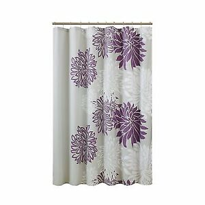 Buy Enya Shower Curtain Purple Grey Floral Printed 72x72 Inches