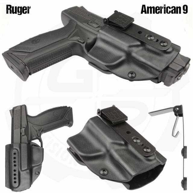 Compact Holster With UltiClip for Ruger American 9 Pistols by Galloway  Precision