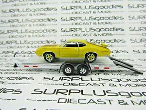 Greenlight-LOOSE-Track-Day-1970-OLDSMOBILE-CUTLASS-S-RALLYE-350-w-Car-Trailer