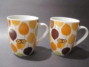 Image Is Loading 2 Little Hoot Owl Mugs Rachael Ray Coffee