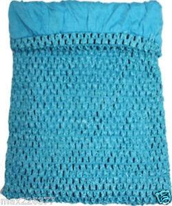 New Girls 11x9 Lined Crochet Tutu Top Tube Girl Turquoise Frozen 6