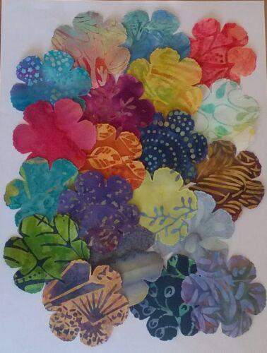 Tela de batik Amapola Flores restos Pack restos Patchwork Paquete 100/% algodón