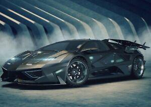 A1-Black-Concept-Sports-Car-Poster-Print-60-x-90cm-180gsm-Racing-Art-14462