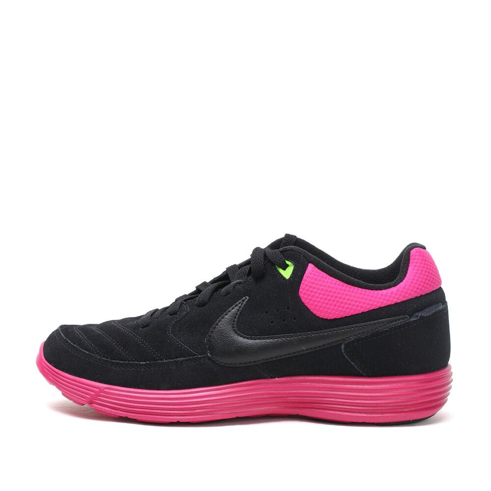 Nike NSW lunaire gato noir / rose en daim baskets chaussures tailles: Royaume-Uni - 6.5 _ 7_7.5