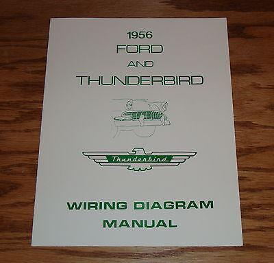 1956 Ford & Thunderbird Wiring Diagram Manual Brochure 56 ...