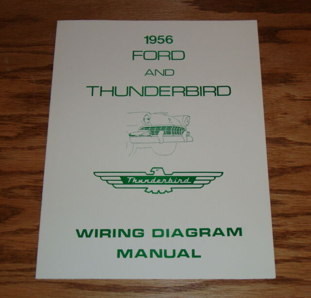 1956 Ford  U0026 Thunderbird Wiring Diagram Manual Brochure 56