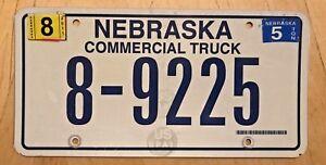 NEBRASKA-COMMERCIAL-TRUCK-LICENSE-PLATE-034-8-9225-034-NE-COM-TRK