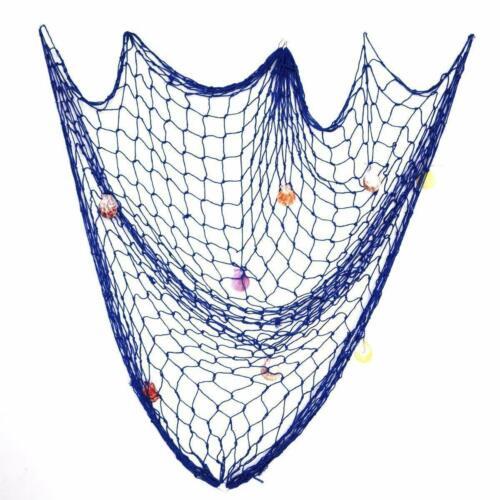 Deko Fischernetz Fischnetz Muscheln Maritim Strand Urlaub Mittelmeerschieße 1*2M