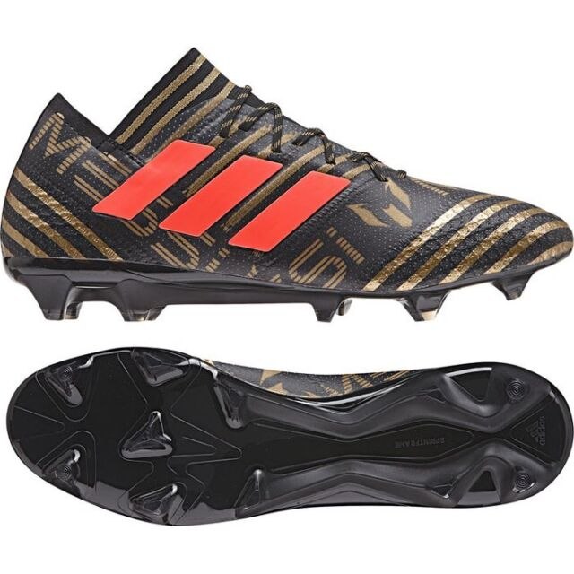 4334a6467d0 MENS ADIDAS NEMEZIZ MESSI 17.1 FG BLACK GOLD RED SOCCER CLEATS SHOES BB6351