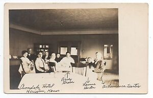 Image Is Loading 1910 Rppc Postcard Of Interior The Avondale