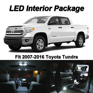 19x White Led Interior Bulbs Kit License Plate Lights For 2016 2017 2018 Tundra 702597230203 Ebay