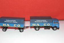 "B6-34 Brekina 1:87 HO Mercedes-Benz ""HACO"" Truck and Trailer in box"