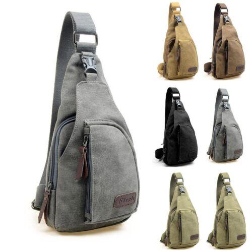 Men/'s Vintage Military Canvas Satchel Outdoor Shoulder Bag Messenger Travel Bag