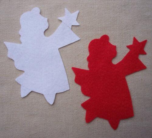 FELT x4 LARGE ANGELS Die Cuts Appliqués Christmas Tree Decorations Embellishment
