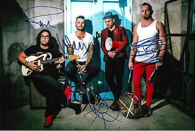 Sporting The Parlotones Full Signed 8x12 Inch Photo Autographs Drip-Dry Music Photographs
