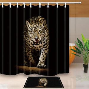 Image Is Loading Cheetah Bathroom Decor Shower Curtain Waterproof Fabric W
