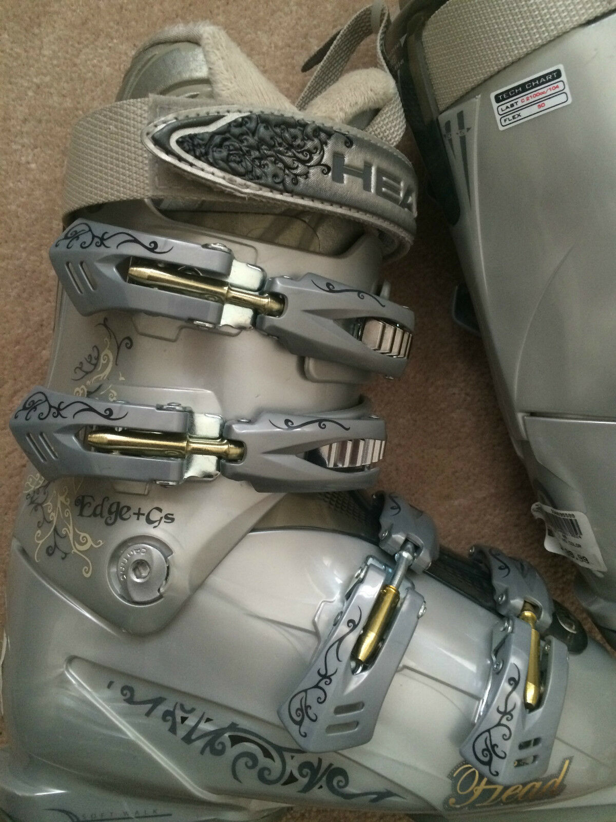 Head Edge + GS L Ski Boots  Women's Sz 22.5  5.5 Brand New Never Used  outlet sale