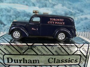 1 43 Durham Classics Ford 1939 Paddy Wagon Toronto City Police 1 Of
