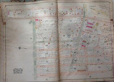 1907 GRAVESEND RACETRACK BROOKLYN JOCKEY CLUB NY AVENUE S TO AVE 2 ATLAS MAP