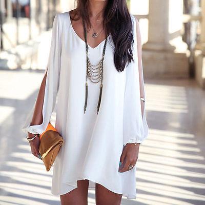 Sexy Women Summer Casual Party Evening Clubwear Short Mini Dress Beach Wrap Tops