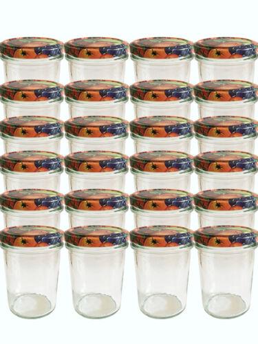 25 Sturzgläser 230 ml Hoch Marmeladengläser Einmachgläser Einweckgläser Obst