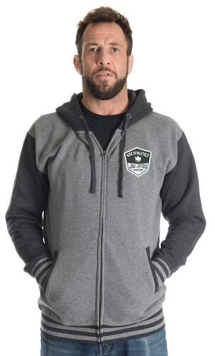Kingz Varsity Hoodie Grey BJJ No Gi MMA Grappling Casual Jiu Jitsu Leisurewear