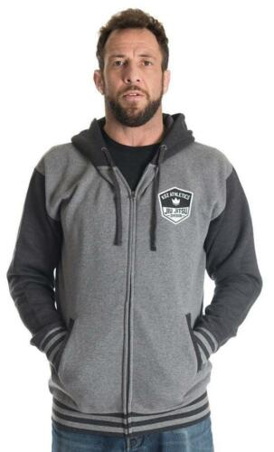 Kingz Varsity Hoodie Grey BJJ No Gi MMA Grappling Casual Jiu Jitsu Leisurewear