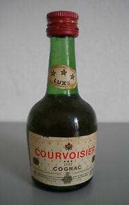 RAR Mignon Miniature Cognac Courvoisier Luxe Fermé Ok