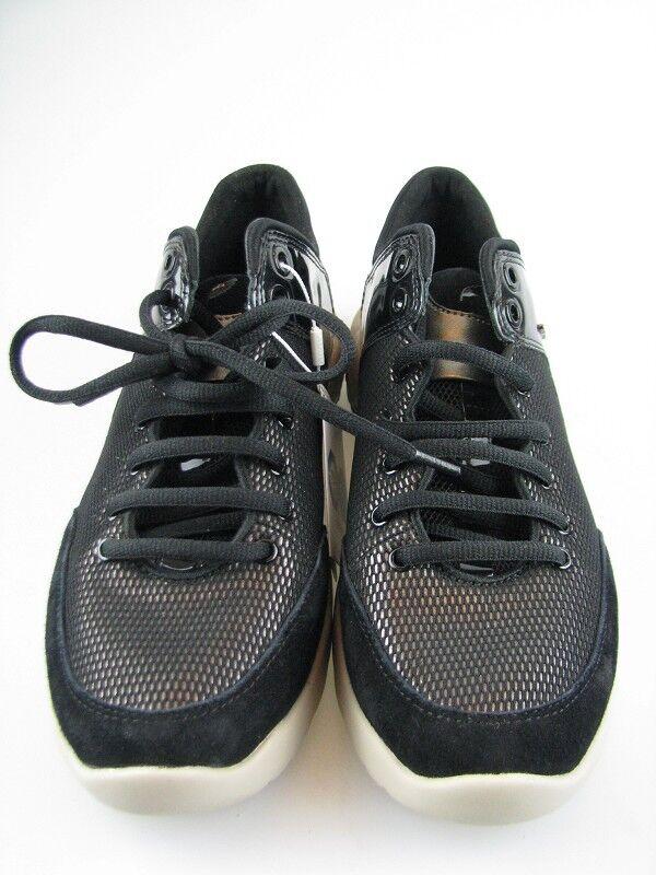 Geox Damen Sneakers D SFINGA A Schwarz Leder in Gr.37