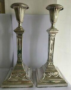 Pair of Beautiful Polish Silverplate Candlesticks