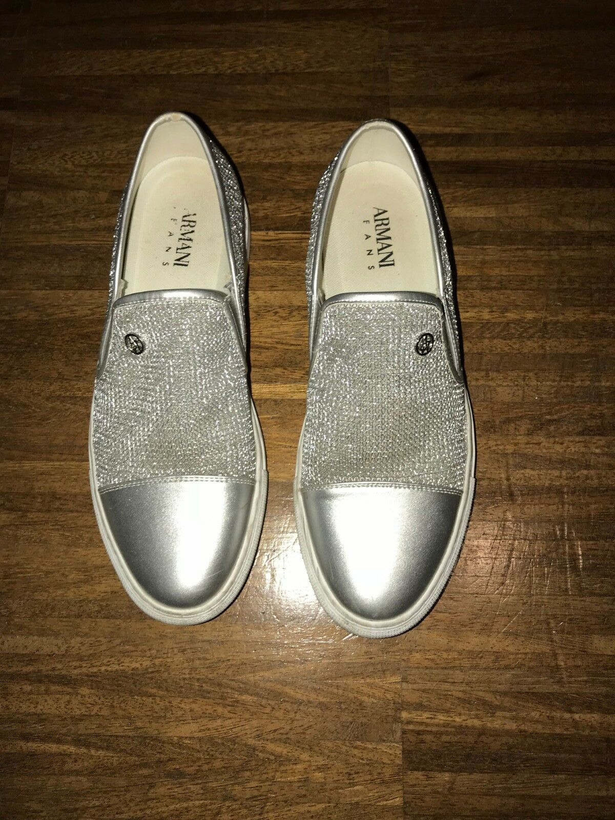 Armani Jeans Silver Slip on on on 7a6104