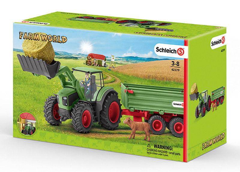 Schleich 42379 Tracteur avec Remorque - Neuf   Emballage D'Origine