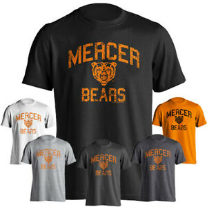 reputable site ebf79 95284 Details about Mercer University Bears MU Distressed Retro Graphic Design  Short Sleeve T-Shirt